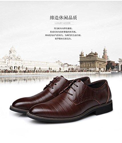 kakaka hommes Chaussures de chaussures Business pour léger en cuir de vache Marron - marron