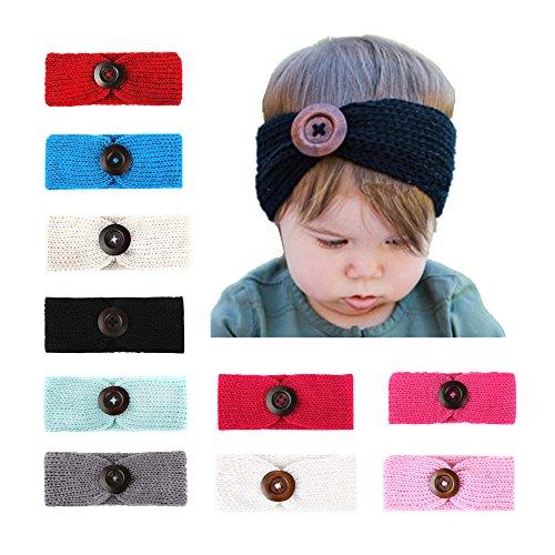 128c2f9dc CHSEEA 10PCS Niños Sombrero Beanie Gorras Elásticas Caliente de Punto Arco  Venda De Pelo Bebe Vinchas
