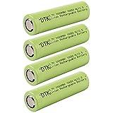 Dtk 3000mah 3.7V Akku li-ion Wiederaufladbare batterien inkl Batterie Aufbewahrungsbox(4 Stück)