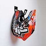 Soporte para casco de motocicleta - Bastidor de almacenamiento para colgar estantes | Montaje en pared Accesorios | Negro