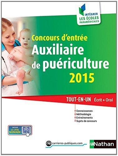 Concours d'entrée Auxiliaire de puériculture 2015 de Christophe Ragot (17 juin 2014) Broché