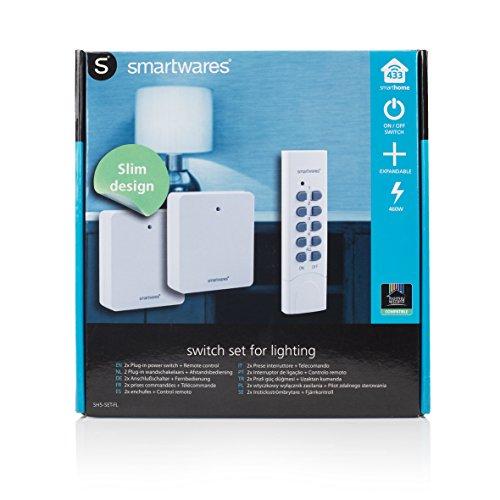 Smartwares SmartHome 2-er Set Funksteckdosen, extra flach für Geräte bis 460 W mit 4-Kanal Fernbedienung, 1 Stück, SH5-SET-FL - 6