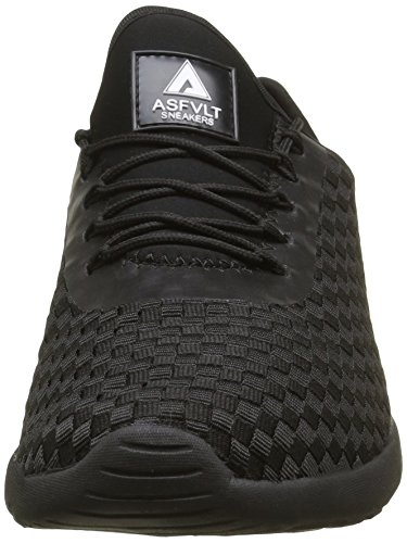 Asfvlt Speed, Baskets Basses Mixte Adulte Noir (Black Woven)