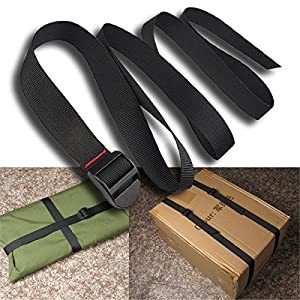 60 inches Luggage Security Strap Belt, Yosoo 2-Pack Adjustable Nylon Travel Camping Luggage Sleeping Bag Straps Tent Bind Band Strap Accessories