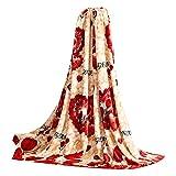 Blumenmuster Coral Carpet Infant Handtuch Klimaanlage Decke