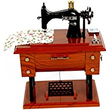 FreshGadgetz Caja musical con forma de máquina de coser. A manivela.