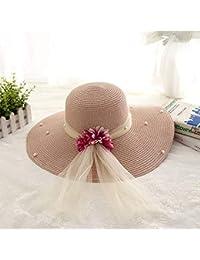 HhGold Sombrero de Visera Sombrero Sombrero de Sol Plegable de Verano  Femenino Sombrilla Sombrero de Verano Grande de Playa Sombrero… 2ee5c5b6f35