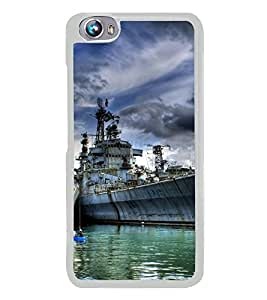 PrintVisa Designer Back Case Cover for Micromax Canvas Fire 4 A107 (Abandoned Military Ship Navy )