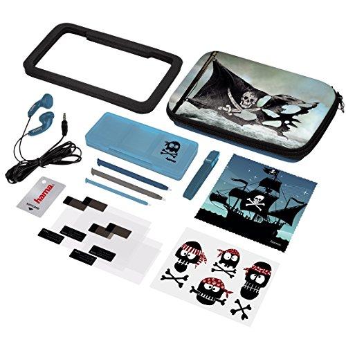 Hama 15in1-Zubehör-Set Pirates für Nintendo New 3DS/New 3DS XL (inkl. Tasche, Schutzfolien, Kopfhörer, Stifte)