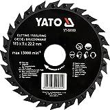 YATO Profi Sägeblatt für Winkelschleifer für Holz, PVC, Gips Auswahl 115mm, 125mm, 230mm Trennscheibe Holz Flex (115 mm)
