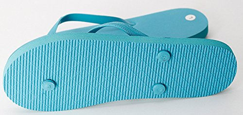 Wealsex Tongs Plates Femmes Chaussures Sandales Flip Flop Plage Piscine Bleu