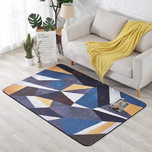 HMWPB Nordische Teppich minimalistischen modernen Wohnzimmer europäischen Stil couchtisch Schlafzimmer Sofa Shop Startseite Zimmer Bett Teppich rechteckig-D 100x150cm(39x59inch) - Zeitgenössische-sofa-bett
