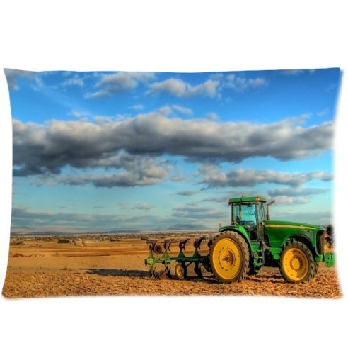 Custom Unique Design cool old tractor Rectangle 20x30 inch One Side Facial/Skin Care Pillowcase Pillow Covers