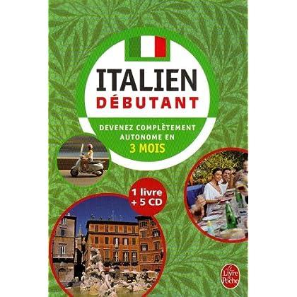 Coffret Italien débutant : 1 Livre + 5 CD