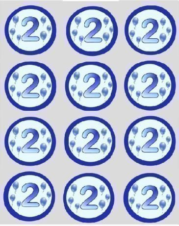 12-2nd-birthday-boys-blue-balloon-rice-papier-fe-cup-cake-40mm-toppers-pr-dcoup-dcoration