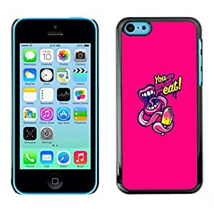 Omega Covers - Snap on Hard Back Case Cover Shell FOR Apple iPhone 5C - Lips Text Kiss Food Ice Cream