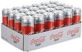 Produkt-Bild: Coca-Cola Light / Erfrischendes Softgetränk in coolen Dosen - Coca-Cola Geschmack ohne Kalorien / 24 x 330 ml Dose