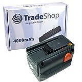 Trade-Shop Premium Li-Ion Ersatz Akku 18V / 4000mAh für Gardena Allround Bläser Accujet 18-Li, Akku-Kettensäge CST 2018-Li, Heckenschere Easycut 50-Li 8873, Ergocut 48 8878, Highcut 48-Li 8882