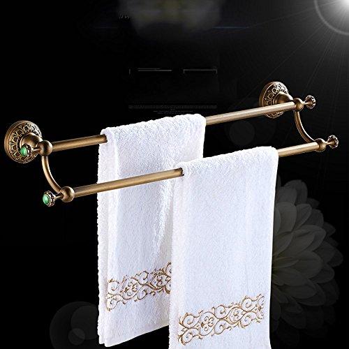 Asciugamano bar-- Doppia antico europeo portasciugamani cinese intaglio ad alta e bassa barra di tovagliolo Towel Rack (disponibile in varie misure) --Facile da usare ( colore : 60cm ) - 12 Intaglio Bar