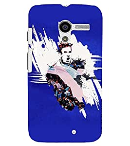 PRINTVISA Football Messi Case Cover for Motorola Moto X