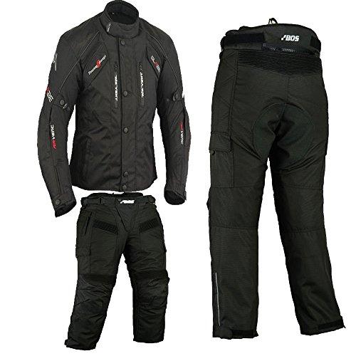 2-teiler Motorradkombi Cordura Textilien Motorradjacke + Motorradhose, gr, 52