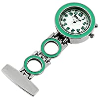 Mint Nurses Fob Watch with Backlight �?? Pin-on Pocket Fob Watch for Nurses, Docto
