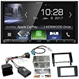 Kenwood DMX-7017DABS Bluetooth Carplay Android Auto USB MP3 Digitalradio Autoradio Einbauset für Mercedes SLK R171