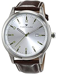 TOM TAILOR Watches Herren-Armbanduhr Analog Quarz Leder 5415001