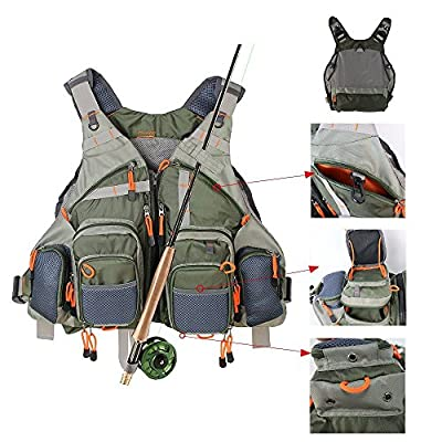 KyleBooker Fly Fishing Vest for Anglers Mesh Adjustable Size for Men and Women from KyleBooker