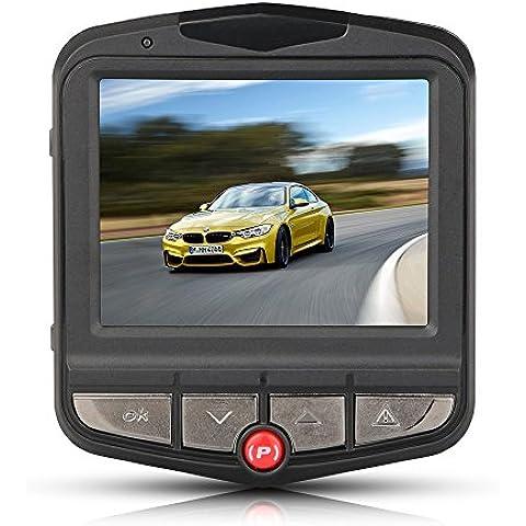 Topist-Registratore Video, Full HD 1080P-Videocamera Dvr per auto, a forma di angelo con obiettivo, sensore di movimento, supporto Loop Recorder uscita HDMI, colore: nero - Auto Box