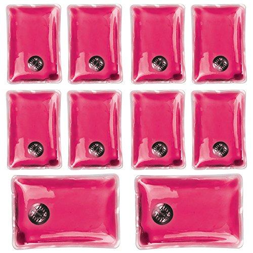 Confezione da 10 gel riutilizzabile dello scaldino della mano Heat Pack - confezioni Riscaldamento istantanea (rettangolo di colore rosa)