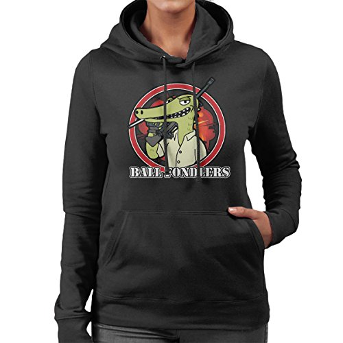 Rick And Morty Ball Fondlers Loggins Women's Hooded Sweatshirt Black