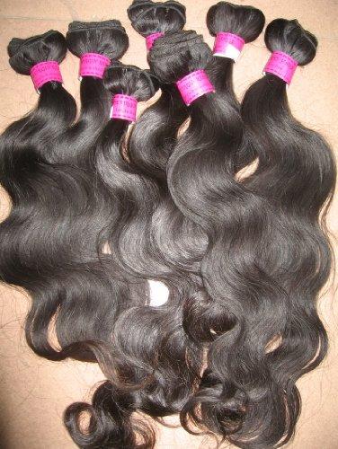 35,6 cm 40,6 cm & 45,7 cm | 300 grams| brésiliens 100% Remy de cheveux humains extension| Corps qualité AAAA Couleur n ° 1B 51