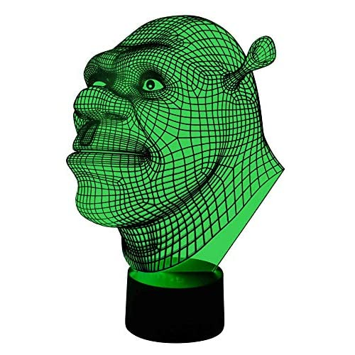 originelle 3d lámpara LED Shrek 2