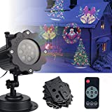LAFALA Weihnachtsbeleuchtung Projektor - 2017 Upgrade Version 16PCS Muster Xmas Projektor Landschaft Licht Fernbedienung und wasserdicht für Outdoor und Indoor