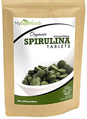 Organic Spirulina Tablets (300 x 500mg) | Highest Quality Available | By MySuperfoods