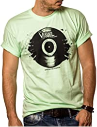 T-Shirt Musique Homme DISQUE VINYLE LP la chaux Taille S-XXL