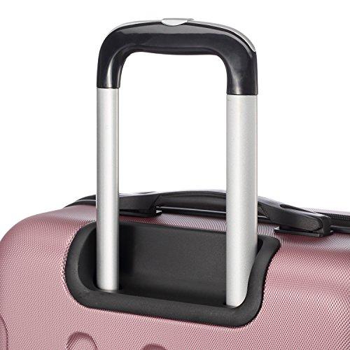 2045 Hartschale Koffer Trolley Reisekoffer einzelgröße XL-L-M in 10 Farben (M, Pink) - 6