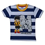 Gag 100% Cotton Boys Navy Blue Half-Slee...