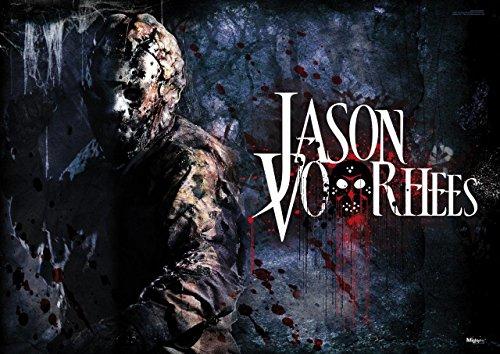 MightyPrint Jason Voorhees Freitag der 13. Art Wand Horror Halloween Premium Print (Halloween Vs Usa Aus)