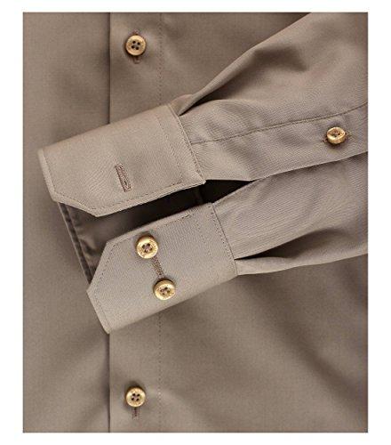 MichaelaX-Fashion-Trade -  Camicia Casual  - Basic - Classico  - Maniche lunghe  - Uomo Taupe (600)