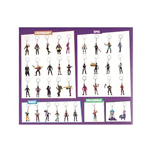Fortnite - 3D Schlüsselanhänger (36 Verschiedene Charaktere), 3er-Set, zufällige Auswahl -