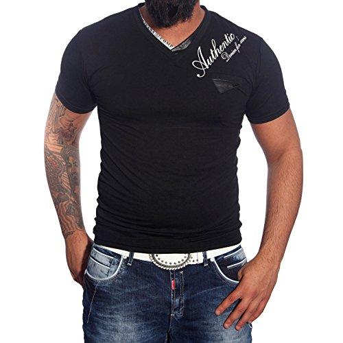 1481d3dde448 Baxboy Herren Hemd Kurzarm V-Neck Designer Polo T-Shirts Slim Fit Shirt JP