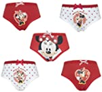 Disney Minnie Mouse 5 Pack Girls Pant...