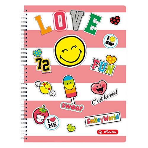 Herlitz Spiralblock Smiley World Girly, kariert