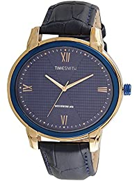 Timesmith Premium Limited Edition Blue Dial Blue Leather Strap Branded Anaog Watch For Men TSM-137