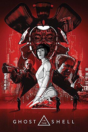 Ghost In The Shell - Red - Filmposter Kino Movie TV-Serie - Grösse 61x91,5 cm + 1 Ü-Poster der Grösse 61x91,5cm Shell-tv