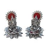 AsiaCraft Ganesh Laxmi Statue Diwali Pooja - Silver Plated God Idols