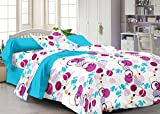 #1: Story@Home 120 TC 100% Cotton White 1 Single Bedsheet with 1 Pillow Cover