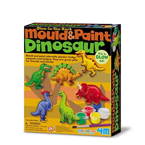 4M 004M3514, Creative Leisure, Molding Kit with Phosphorescent Dinosaurs